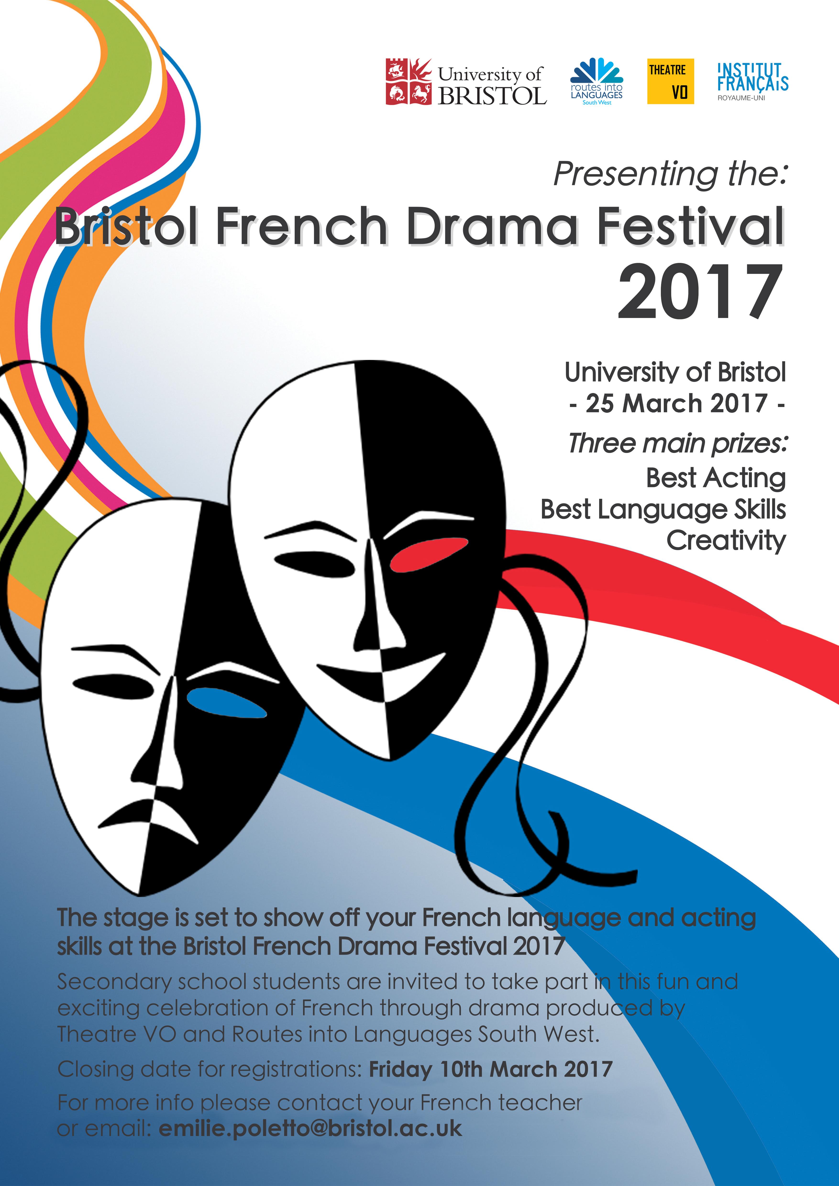 Bristol French Drama Festival Postera3