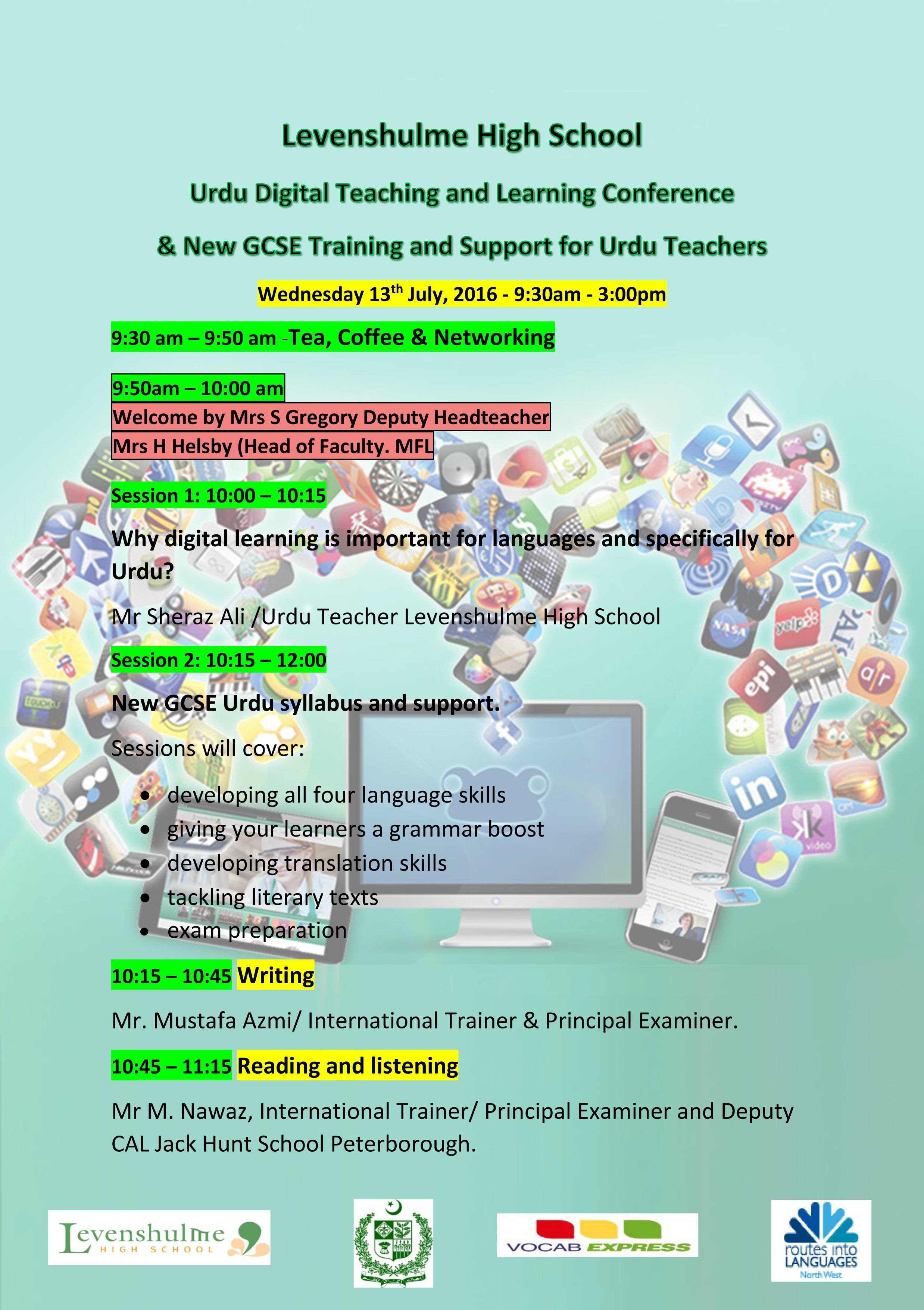 Urdu Digital Teaching and Learning Conference & New GCSE Training
